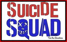 Cosplay Wording Suicide Squad Logo Digital Embroidery Machine Design File 5x7 6x10 by Thanks4TheAdventure on Etsy