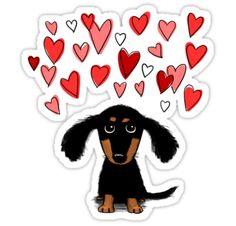 Amor del perro Wiener • Also buy this artwork on stickers, apparel, phone cases y more.