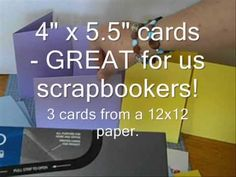 3 options to get 3 cards from 12 x 12 paper