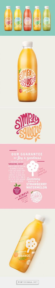 Simply Squeezed Juice packaging design by Dow Design, NewZealand)
