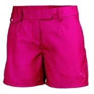 Puma Novelty Graphic Womens Golf Shorts Beetroot Cerise