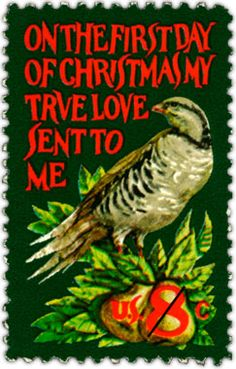The contemporary Christmas stamp for 1971 featured art by Jamie Wyeth, the son of American artist Andrew Wyeth and a noted artist himself. He also served as an advisor to the U.S. Postal Service. This was his only stamp design.