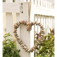 Wind & Weather Rock Heart Wreath Wall Decor