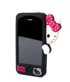 HELLO KITTY PEEK-A-BOO 3D SILICONE CASE FOR IPHONE