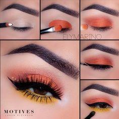 Motives® Khol Eyeliner - Angel - make_up_pintennium Makeup Eye Looks, Eye Makeup Steps, Skin Makeup, Makeup Eyeshadow, Makeup Brushes, Eyeshadows, Summer Eyeshadow, Summer Eye Makeup, Yellow Eyeshadow