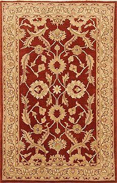 """Indian Zigler  Wool Brown Area Rug  (3'9"""" x 5'10"""") - 250 - 20307"""