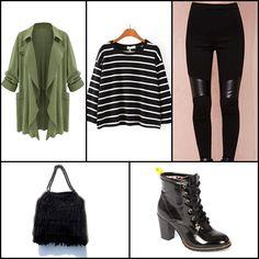 Trench coat @lookbookstoreco ~~ Black long sleeve striped crop t-shirt @sheinside ~~ Rider moto legging @nastygal ~~ Fringe bag #ILEVAHC ~~ Ankleboot @mariamare ~~