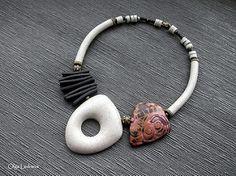 Translucent Porcelain Royalton China Co Polymer Clay Bracelet, Polymer Clay Pendant, Polymer Clay Art, Cool Necklaces, Handmade Necklaces, Jewelry Art, Beaded Jewelry, Porcelain Jewelry, Porcelain Ceramics
