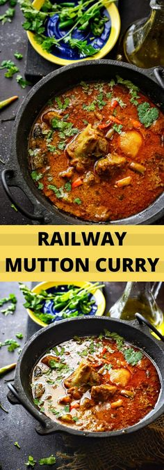 Railway Mutton Curry was a recipe developed by Indian chefs during British Rule and was served particularly to the first class passengers in train. Keema Recipes, Veg Recipes, Curry Recipes, Indian Food Recipes, Chicken Recipes, Cooking Recipes, Ethnic Recipes, Goat Recipes, Indian Foods