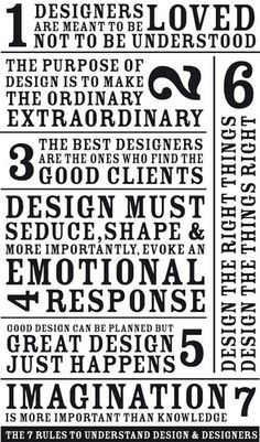The 7 Rules To Understand Design & Designers: What design must do! #webdesign #mustread