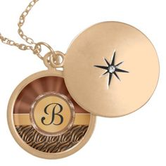 """Gold Monogrammed Locket for Women.  Personalization Gifts  Make a statement with Customizable Gifts with YOUR PHOTOS and or TEXT. http://www.zazzle.com/littlelindapinda/gifts?cg=196011228045420884&rf=238147997806552929    Easy to use Templates.  Click """"Change"""" to Upload YOUR PHOTO  and type in YOUR TEXT into the TEXT BOX(es).  ALL of Little Linda Pinda Designs CLICK HERE: http://www.Zazzle.com/LittleLindaPinda*"""