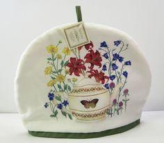 Alice's Cottage Cotton Tea Cozy Teapot Butterfly Garden - NEW #AlicesCottage