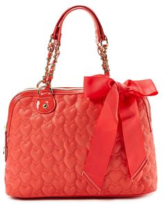 """Betsey Johnson """"Be My One and Only"""" Satchel SatchelBags #Handbags"""