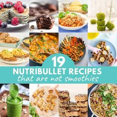 12 image collage of nutribullet recipes with text overlay. Lunch Snacks, Healthy Snacks, Healthy Kids, Nutritious Breakfast, Breakfast Recipes, Veggie Recipes, Baby Food Recipes, Healthy Family Dinners, Nutribullet Recipes