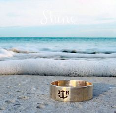 Men's Anchor Ring  Nu Gold Initial Ring  by DesignedToShineAcc, $60.00  Men's wedding band?