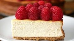 Healthier Raspberry Cheesecake