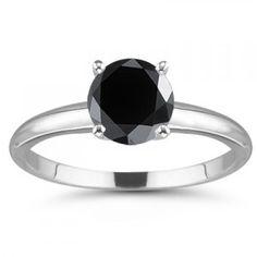black diamond engagement ring Yes Please...