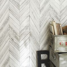 Papier Peint Intissé Tuck Gris Clair #leroymerlin #tendance #vintage  #industriel #papierpeint