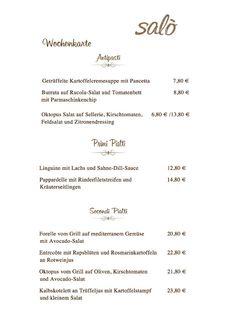 Wochenkarte Salo Restaurant & Pizzeria www.salomuenchen.de    Unsere neue Wochenkarte! #salo #restaurant #pizzeria #muenchen #munich #pizza #steinofen #schwabing #wochenkarte #pizzatag #lieferservice #pasta