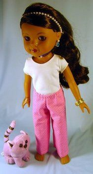 Easy Pants, leggings pattern to fit Hearts for Hearts Girls , Les Cheries and similar 14 inch dolls.