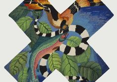 """""""Contemporary International Tapestry"""" permeates the Hunterdon Art Museum with a profusion of resplendent loom works Contemporary Tapestries, Green Man, Tapestry Weaving, Art Museum, Dinosaur Stuffed Animal, Textiles, Gallery, Inspiration, Animals"""
