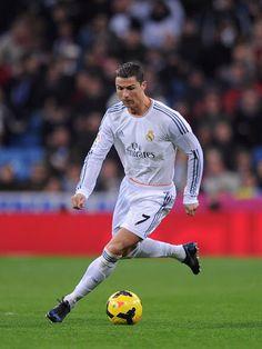 Cristiano Ronaldo in action during the La Liga match between Real Madrid CF  and RC Celta de Vigo at the Santiago Bernabeu stadium on January 2014 in  Madrid 197b023ed