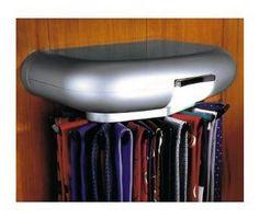 Corbatero Eléctrico con Luz irá rotando su colección de corbatas. Para pared o fondo de armario. www.cosaschulis.com