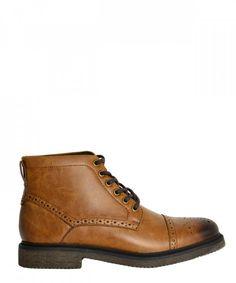 528109c52ee Ανδρικά μποτάκια Oxford καφέ δετά B8529R #ανδρικάμποτάκια #μοδάτα #ρούχα  #παπούτσια #στυλ