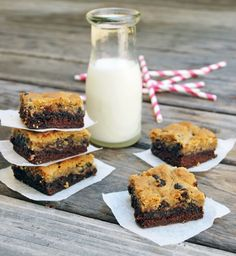 two of my favs combined...chocolate chip cookies and brownies...