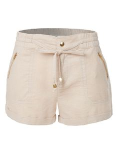 Nordstrom Pants - Womens Lightweight Casual Linen Shorts Pants with Drawstring Waist Sexy Shorts, Cute Shorts, Casual Shorts, Shorts Altos, Chor, Linen Shorts, Shorts With Pockets, Short Outfits, Fashion Outfits