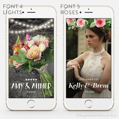 Classic & Clean Snapchat Wedding Geofilter Personalized Custom On-Demand Geo…