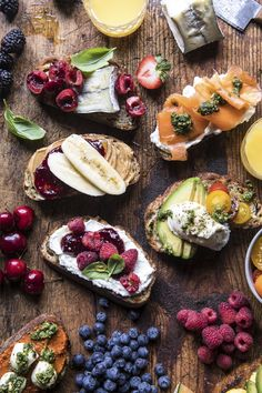 Customize bruschetta to your liking by combining sweet, savory + seasonal ingredients like Half Baked Harvest does in this Brunch Bruschetta Bar. Don't forget to pair with a carton of wholesome Florida's Natural orange juice!