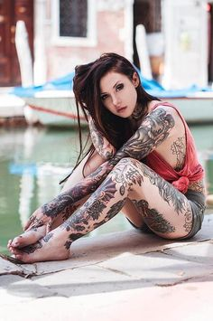 The Girls Mom Warned You About. Hot girls with tattoos. Hot Girls With Tattoos . art - attractive - beautiful - cute - sexy girls with tattoos. Tattoo Girls, Girl Tattoos, Tattoos For Women, Tattooed Women, Woman Tattoos, Insane Tattoos, Piercings, Hot Girls, Suicide Girls