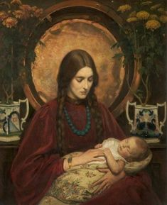 "FRank S. Eastman - ""A Little Sleep Iri Kaijanniemi-Kilpeläinen's photo. Madonna, Desenhos Tim Burton, Pre Raphaelite, Vanitas, Mother And Child, Religious Art, Traditional Art, Art History, Amazing Art"