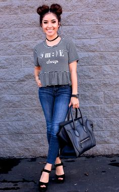 Outfit of the Day: Stripes and Jeans – Dulce Candy