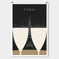 This champagne wall art. | 22 Products For People Who Are Completely Obsessed With Paris