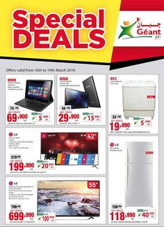 Geant Special Deals Kuwait (16th March 2016 to 19th March 2016) - UAE SHOPPING INFO !!!!