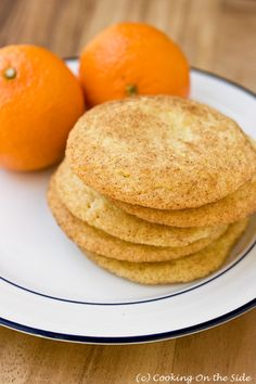 Clementine Orange Snickerdoodles...get the recipe at www.cookingontheside.com #cookies