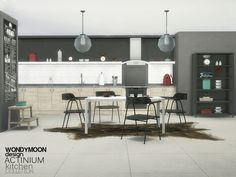 The Sims Resource: Actinium Kitchen by wondymoon • Sims 4 Downloads