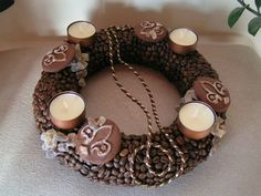 Advent, Baileys, Coffee Beans, Natural Materials, Christmas Wreaths, Candles, Diy, Jewelry, November