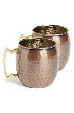 Free shipping and returns on 10 Strawberry Street Copper Mug (2 for $40) at Nordstrom.com. A burnished copper mug fashioned with an antiqued finish adds eye-catching, vintage appeal to any cocktail or dinner party.