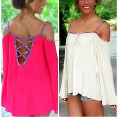 open shoulder / long sleeved flowing shirt - defiantly making something similar to this soon with an oversized dress shirt