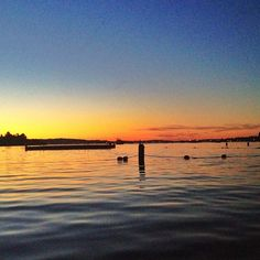 Within a minute of this photo being taken, we jumped in fully clothed! #liveitupsummer (On Lake Washington)