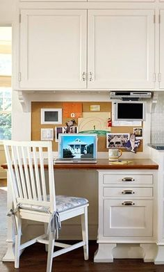 kitchen office area - Kitchen Desk Ideas