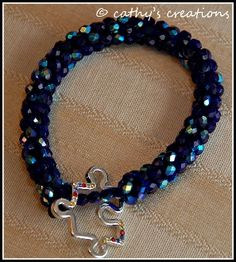 Light it Up Blue for Autism Bracelet $40 cathy's creations