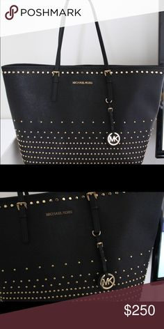 Michael kors jet set studded hold Like new it's between a large to extra-large very beautiful bag tv 500 MICHAEL Michael Kors Bags Shoulder Bags