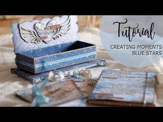 Tutorial Scrapbook Blue Stars 1/2 - YouTube