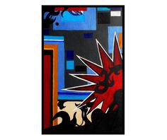 Modern Original Abstract Painting Contemporary by 7RayedDesigns
