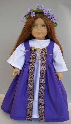 """Fits 18"""" American Girl doll Celtic England folk dress clothes A (COSTUME ONLY) #Handmade #ClothingShoes"""