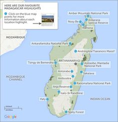 Madagascar itineraries & maps. Plan your Madagascar itinerary
